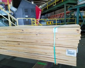 A finished bundle of 5/4 decking ready for shipment